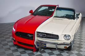 Side by side display shows 50 years of Ford Mustang | Mustangs On ...