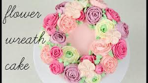 Cake Trend Buttercream Flower Wreath Tutorial Cake Style Youtube