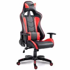 goplus high back executive racing reclining gaming chair swivel pu leather office computer chair ergonomic game