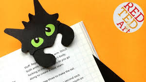 hug a book toothless bookmark diy how to train a dragon hug a book bookmark red ted art