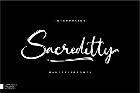 Urban style in font design is a balanced combination of simple and concise forms. Sacreditty Font By Garisman Studio Creative Fabrica In 2020 Handwritten Quotes Brush Font Script