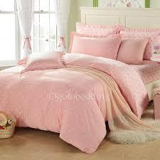 cotton cute girls polka dots light pink duvet cover