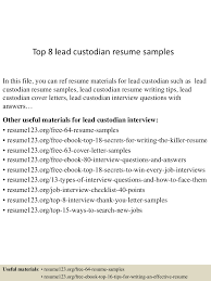 custodian resume samples health educator sample resume lva1 app6891 thumbnail 4jpg cb 1433156785 top8leadcustodianresumesamples 150601110536 lva1 app6891 thumbnail 4 top 8 lead custodian resume samples
