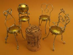 An ordinary champagne cork cage. My Bubbly Bistro Chairs