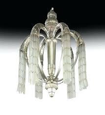 art deco glass chandelier an art silvered bronze and glass cornucopia chandelier circa this won a art deco glass chandelier
