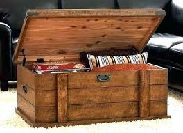 rustic storage chest