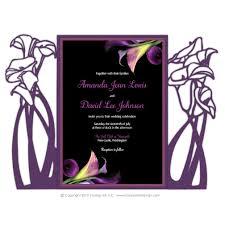 Calla Lily Color Chart Calla Lily Laser Cut Invitations