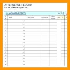 Attendance Record Template Benefits 2019 Free Sheet Daily