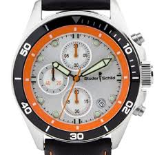 orange men s watches shop the best deals for 2017 studer schild morse men s chornograph sport watch genuine leather strap