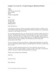 Cover Letter Help Desk Technician Resume Resume For Help Desk