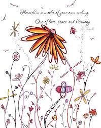 Ladybug Quotes Inspiration Inspirational Floral Ladybug Dragonfly Daisy Art With Uplifting