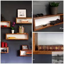 Welland 48 Floating Wall Shelf With Led Lights White Floating Shelf Mid Century Modern Walnut Floating Box