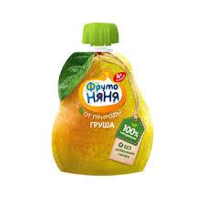 <b>Пюре</b> ФрутоНяня <b>груша</b> натуральное с 4 месяцев 90 г пауч Россия