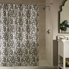 Dkny Bathroom Accessories Sinatra Silver Shower Curtain