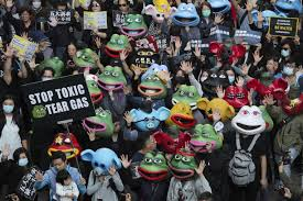 Shiba, <b>Pepe the Frog</b>, and protest pig: Internet memes come to life at ...