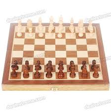 Wooden Box Board Games Cheap Portable Chess Game Set in Wooden Box Coffee Yellow 87