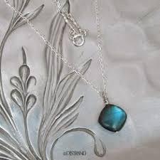 labradorite necklace sterling silver spectrolite kite solitaire chain djstrang color flashing gemstone minimalist blue polished stone boho