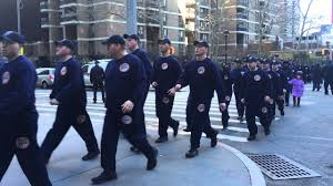 Rare Glimpse Of The Next New York State Court Officers Class Training On Fulton St In Manhattan