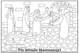 De Blinde Bartimeus Clipart Geloven Is Leuk