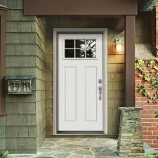white craftsman front door. Simple Craftsman Primed LeftHand Inswing 6 Lite Clear Steel Prehung Front DoorTHDJW182500096   The Home Depot In White Craftsman Door