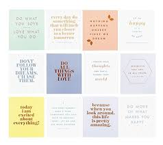 Quote Cards Adorable Quote Cards Set Of Inspiration Typography On Be Happy Bright You