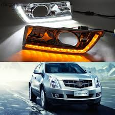 2012 Cadillac Srx Fog Lights Us 88 0 20 Off Cscsnl 1 Set For Cadillac Srx 2012 2013 2014 2015 2016 Led Drl Daytime Running Lights Fog Lamp Cover With Turn Yellow Signal In Car