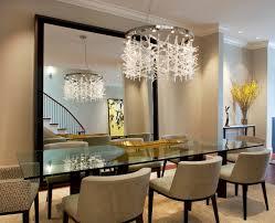 modern crystal dining room chandeliers combined with glass dining table on crystal dining room