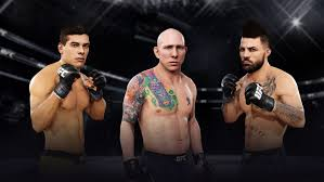 Image result for 3 fighters cage