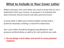 introduction 6 before starting in the cover letter cover letter guidelines