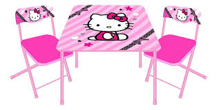 black table and chairs set o kitty pink black activity table and 2 chairs set miami