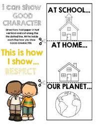 best pillars of character ideas pillars of  six pillars of character respect flapbook activity