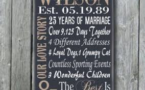 personalized 5th 15th 25th 50th anniversary gift wedding elegant 25th wedding anniversary gift ideas for husband