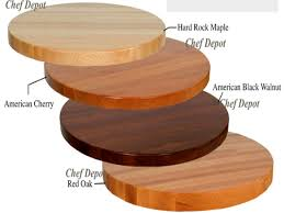 antique round butcher block table tops