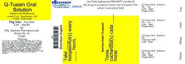 Q Tussin Solution Preferred Pharmaceuticals Inc