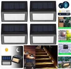 Solar Powered Outdoor Lights For Steps Details About 4x 6 Led Solar Power Light Sensor Wall Light Garden Step Stair Deck Lights Lamp