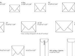 3 Typical Wedding Invitation Size Envelope Size Chart Size