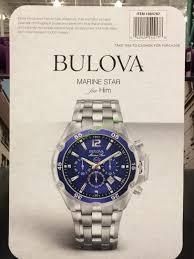bulova marine star stainless steel men s chronograph watch model costco 1084787 bulova marine star stainless steel mens