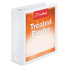 Treated Clearvue Locking Round Ring Binder 3in Rings 52 Recycled White One Source