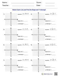 solving for y worksheet math find the slope and y intercept for each equation worksheet converting