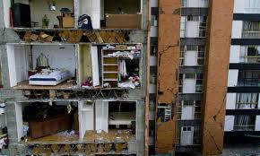 Earthquakes can cause damage and destruction on a massive scale. Mexico Earthquakes Demonstrate How Height And Distance Dictate Damage Earthquakes The Guardian