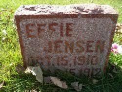 Effie Jensen (1910-1912) - Find A Grave Memorial