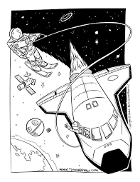 Astronaut Coloring Page - Tim's Printables