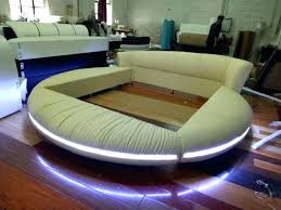 contemporary leather bedroom furniture. Round Bed Furniture Modern Led Remote Control Contemporary Leather King Size Bedroom D