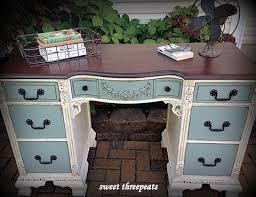 redoing furniture ideas. antique twotoned desk repainted deskrefurbished deskrefinished furniturefurniture redofurniture ideasantique redoing furniture ideas u