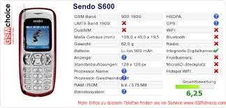 Sendo S600 :: GSMchoice.com