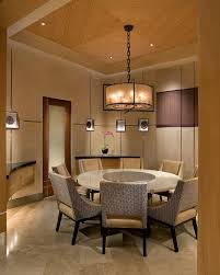asian inspired lighting. Round Dining Table For The Asian Style Room [Design: IMI Design / Photography Inspired Lighting M