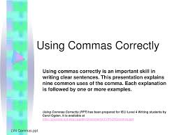 Ppt Using Commas Correctly Powerpoint Presentation Id 212532