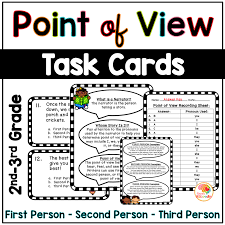Point Of View Anchor Charts And Task Cards