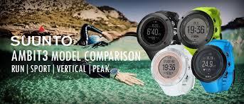 Suunto Ambit3 Model Comparison Which Ambit3 Gps Watch Is