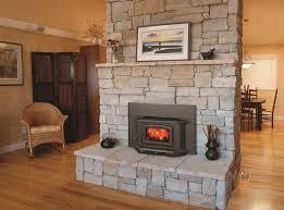 image of prefabricated wood burning fireplace